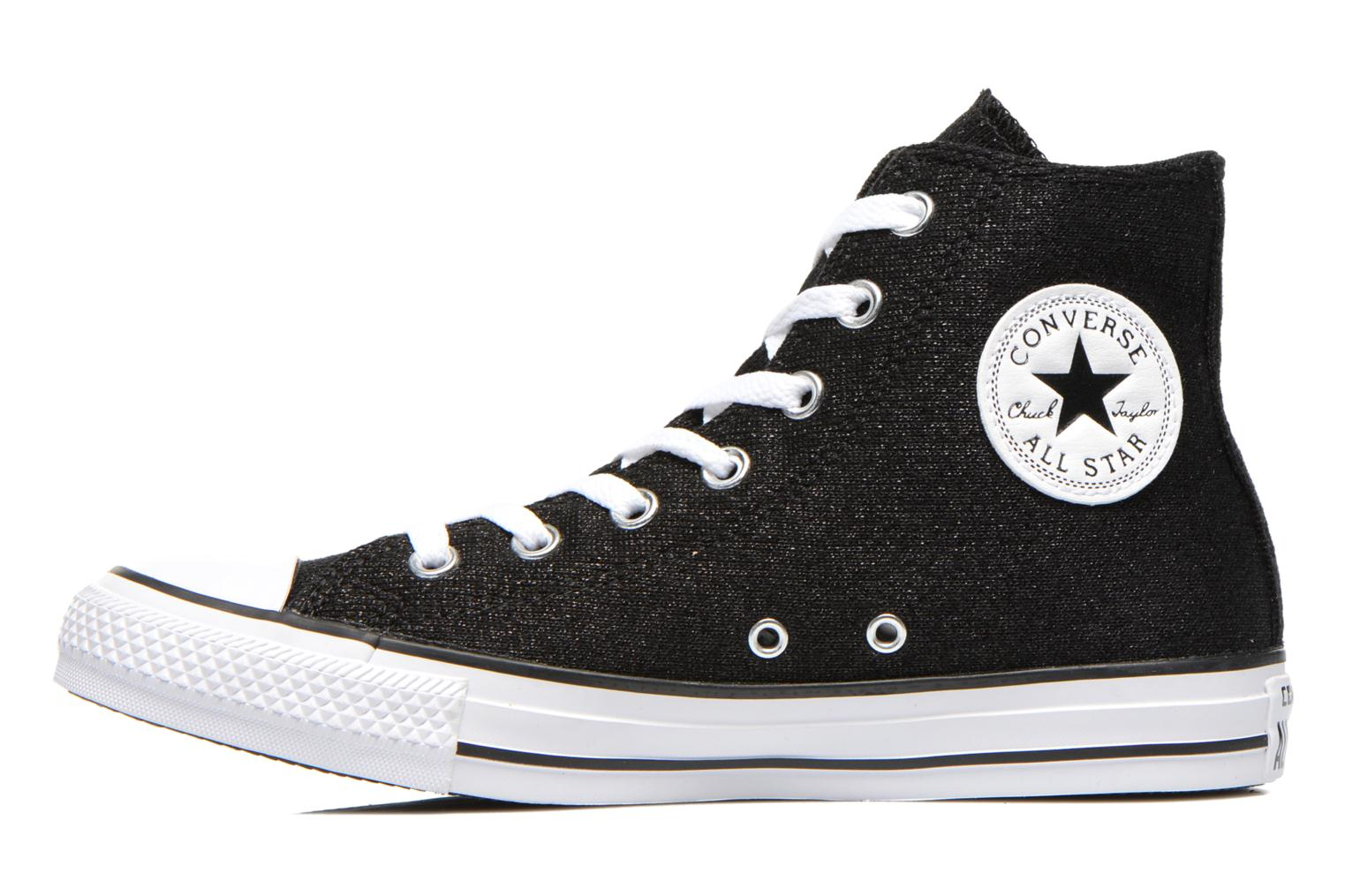 Baskets Converse Chuck Taylor All Star Sparkle Knit Hi W Noir vue face