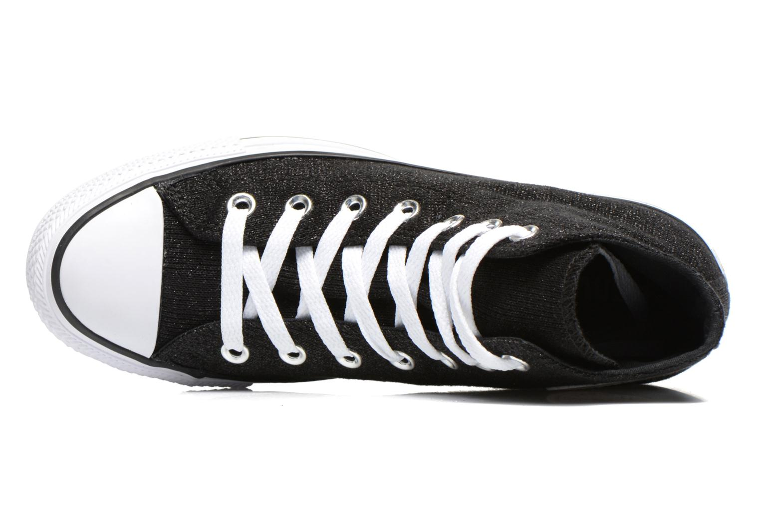 Baskets Converse Chuck Taylor All Star Sparkle Knit Hi W Noir vue gauche