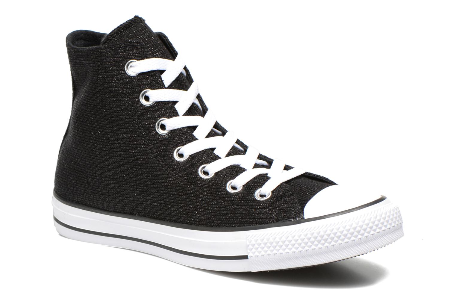 Baskets Converse Chuck Taylor All Star Sparkle Knit Hi W Noir vue détail/paire