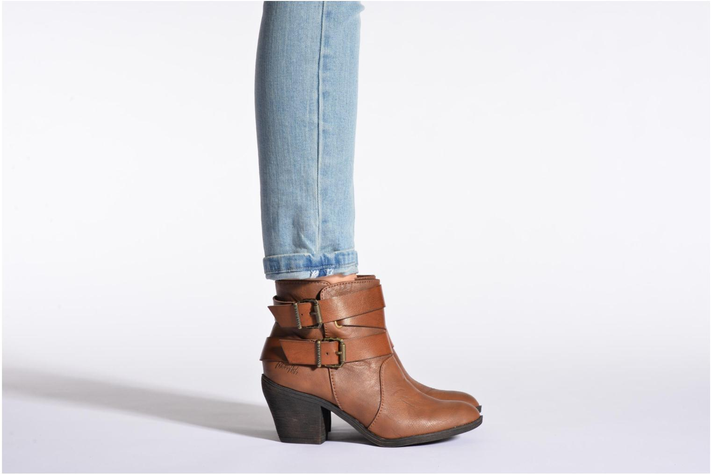 Bottines et boots Blowfish Sworn Marron vue bas / vue portée sac