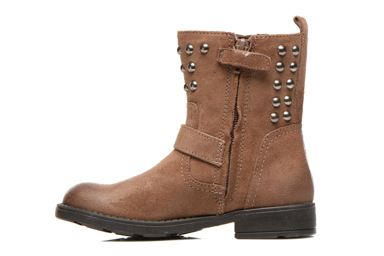 Ankle boots Geox J Sofia C Brown front view