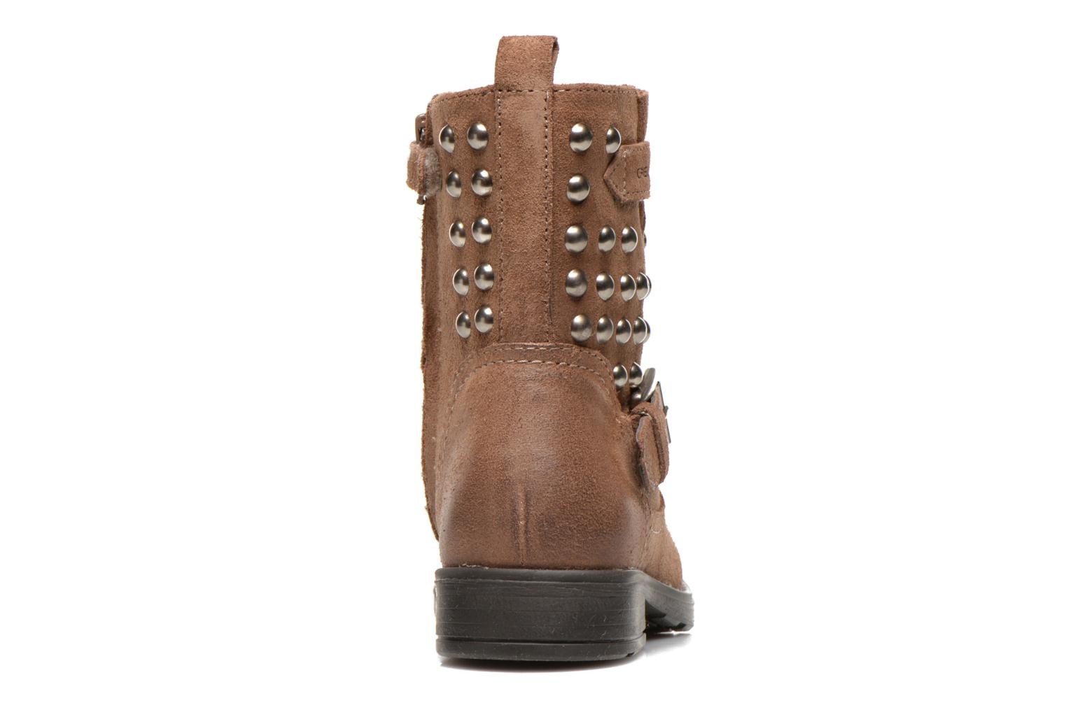 Ankle boots Geox J Sofia C Brown view from the right