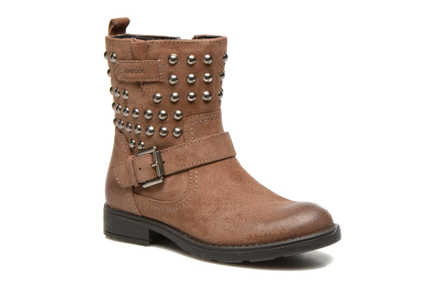 Ankle boots Geox J Sofia C Brown detailed view/ Pair view
