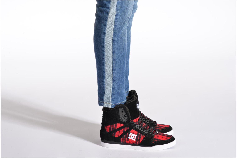 Baskets DC Shoes Rebound Slim High WNT Noir vue bas / vue portée sac