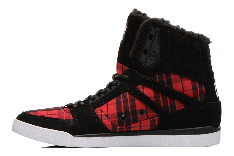 Baskets DC Shoes Rebound Slim High WNT Noir vue face