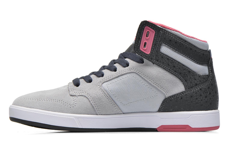 Baskets DC Shoes Nyjah High SE W Gris vue face