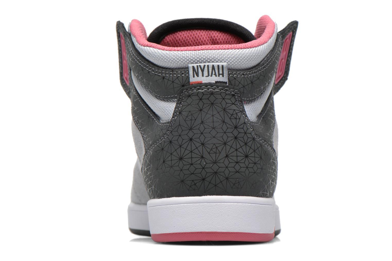 Baskets DC Shoes Nyjah High SE W Gris vue droite