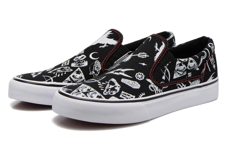 Deportivas DC Shoes Trase Slip-On SP Negro vista 3/4