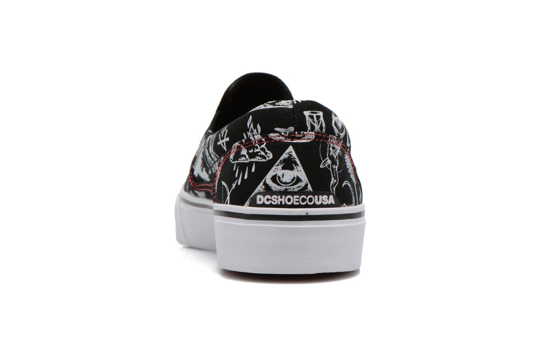 Sneaker DC Shoes Trase Slip-On SP schwarz ansicht von rechts