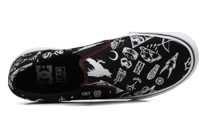 Sneaker DC Shoes Trase Slip-On SP schwarz ansicht von links