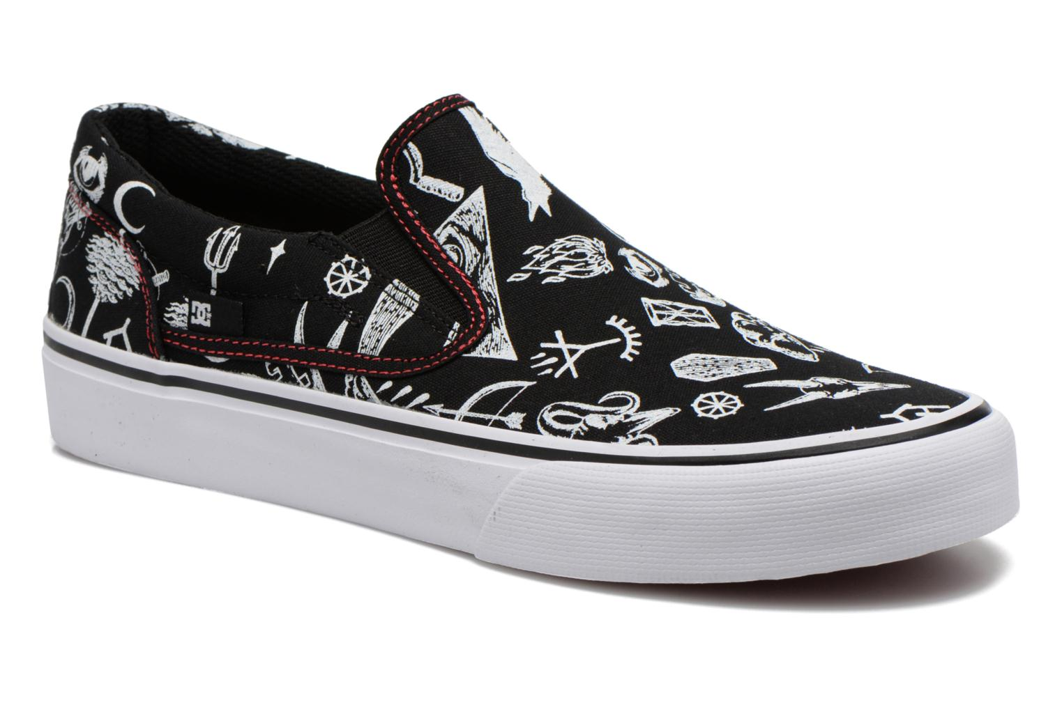 Sneakers DC Shoes Trase Slip-On SP Zwart detail