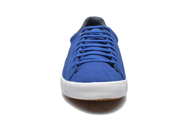 Sneaker Fred Perry Howells Suede blau schuhe getragen