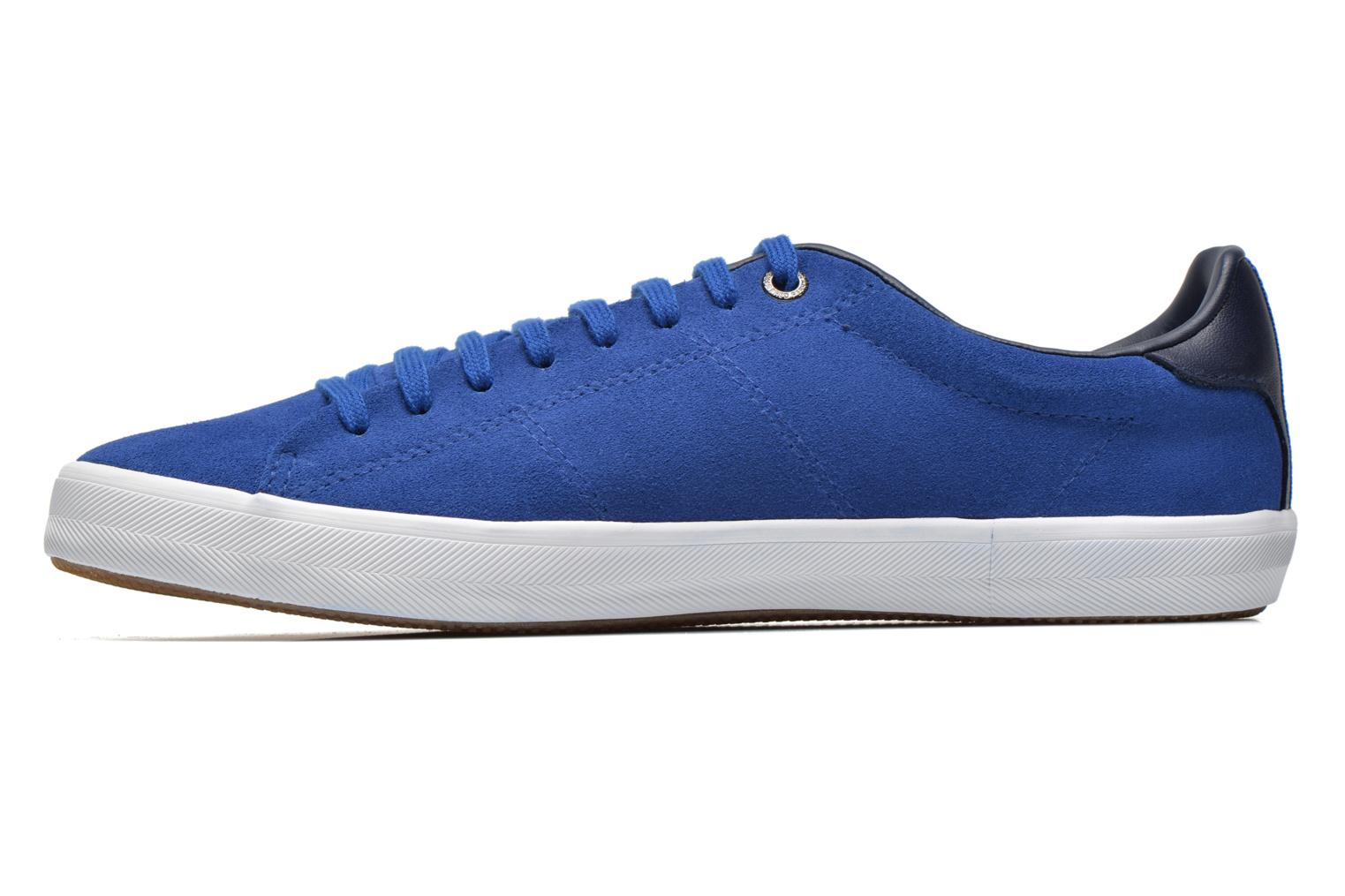 Baskets Fred Perry Howells Suede Bleu vue face