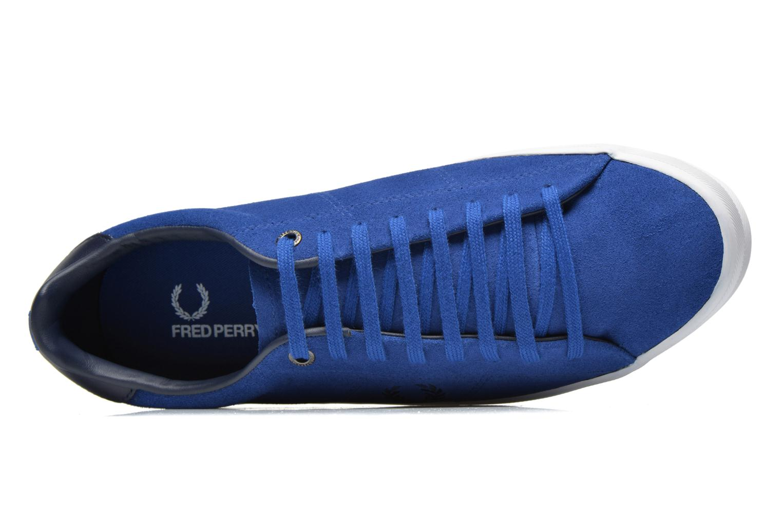 Baskets Fred Perry Howells Suede Bleu vue gauche