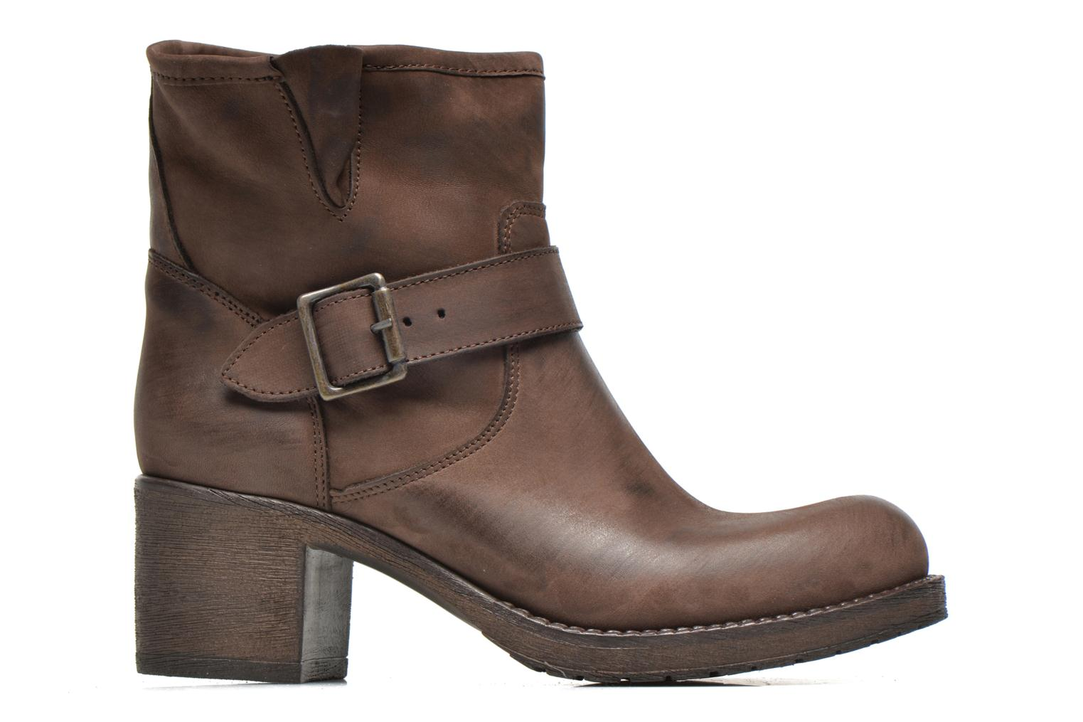 Ankle boots Georgia Rose Malix Brown back view