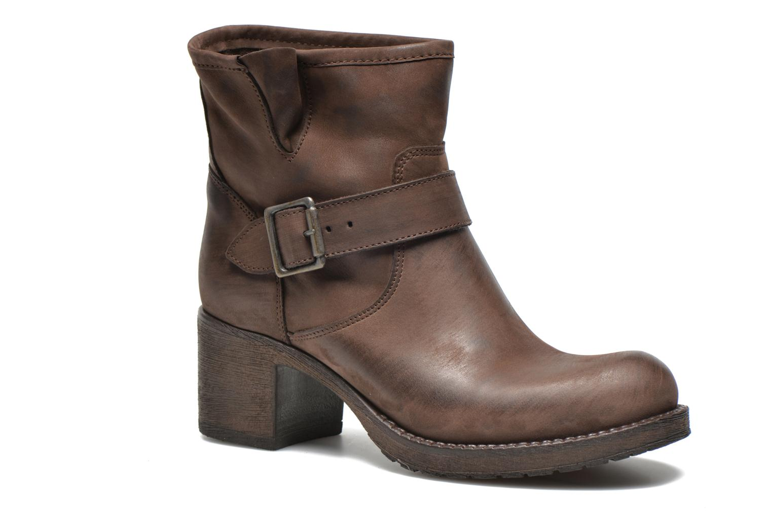 Ankle boots Georgia Rose Malix Brown detailed view/ Pair view