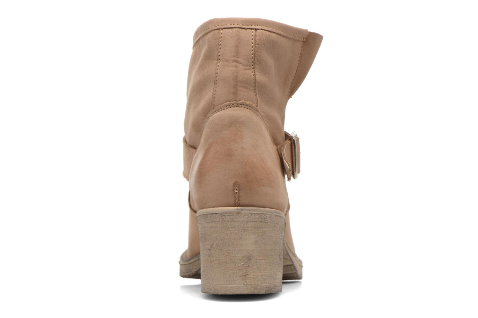 Ankle boots Georgia Rose Malix Beige view from the right