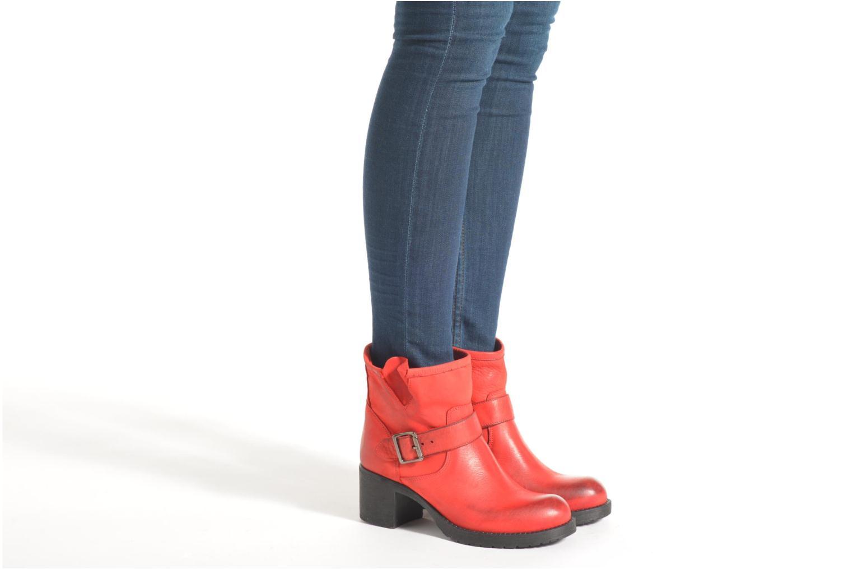 Bottines et boots Georgia Rose Malix Noir vue bas / vue portée sac