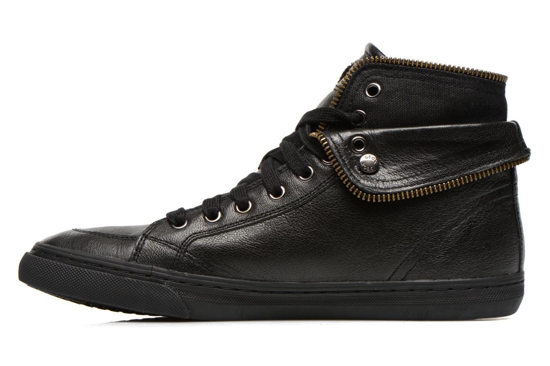 Sneaker Geox D NEW CLUB D D5458D schwarz ansicht von vorne