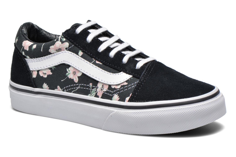 vans noir avec des fleurs