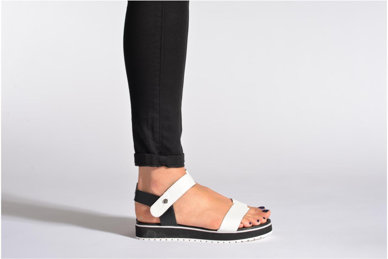Sandales et nu-pieds Elle Corot Blanc vue bas / vue portée sac