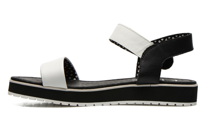 Sandales et nu-pieds Elle Corot Blanc vue face