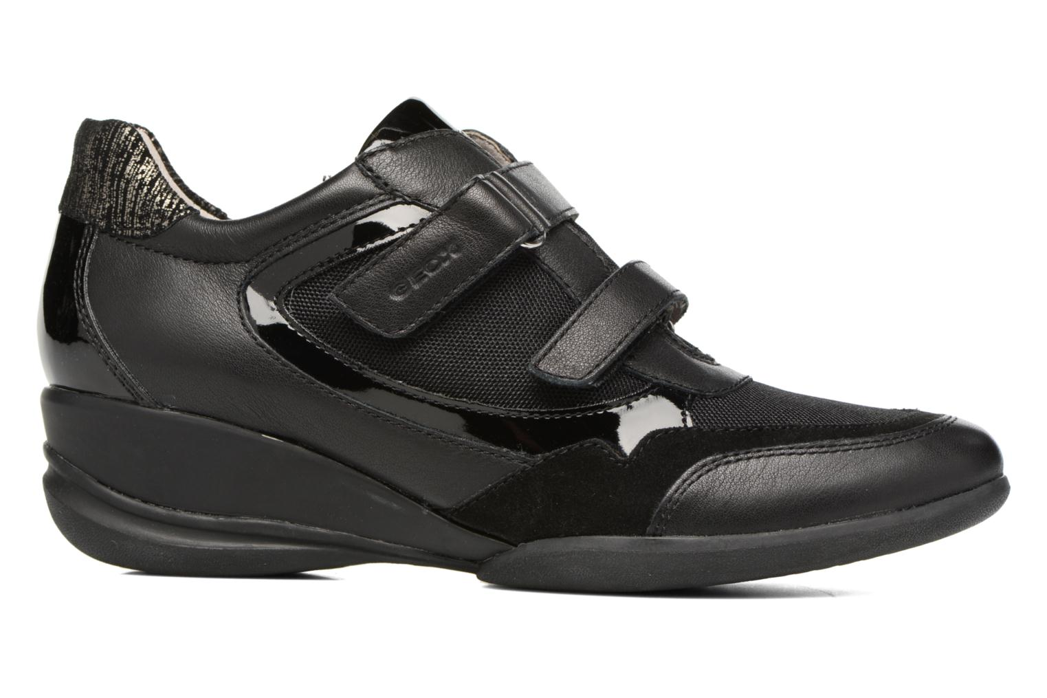 Trainers Geox D PERSEFONE A D540RA Black back view