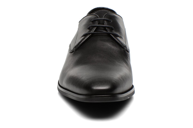 Schnürschuhe Geox U NEW LIFE A U54P4A schwarz schuhe getragen