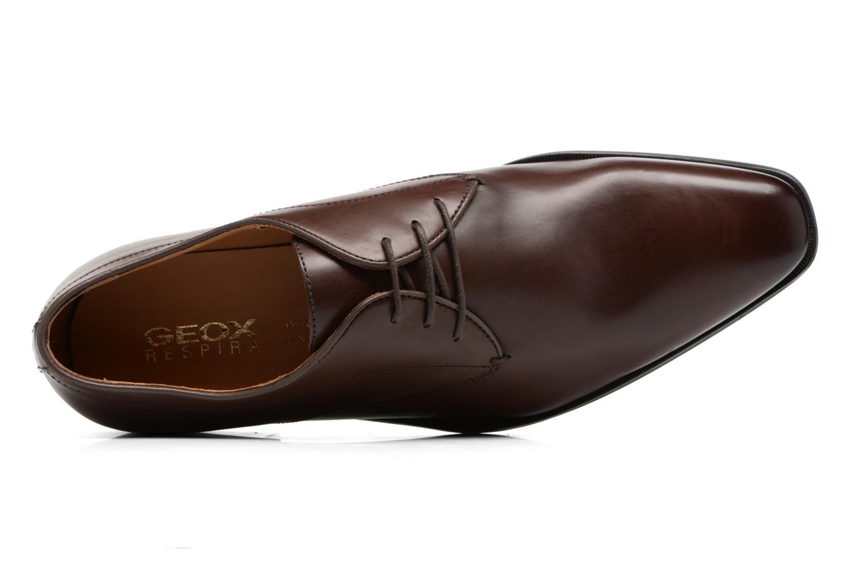 Zapatos con cordones Geox U NEW LIFE A U54P4A Marrón vista lateral izquierda
