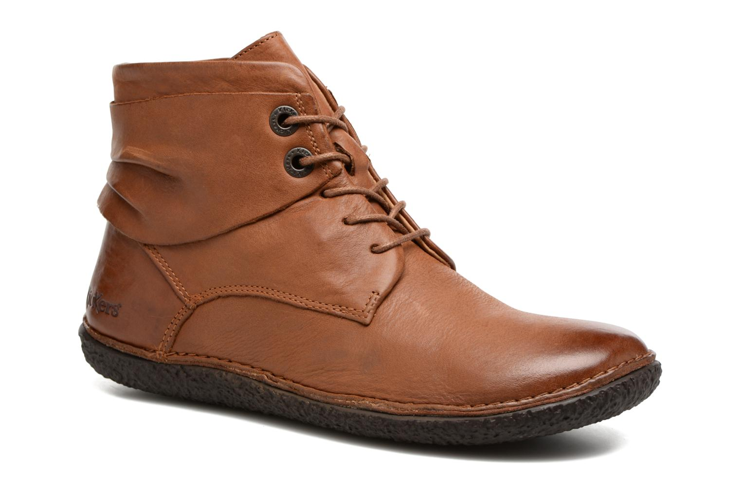 Marques Chaussure femme Kickers femme HOBYLOW FULL MARRON