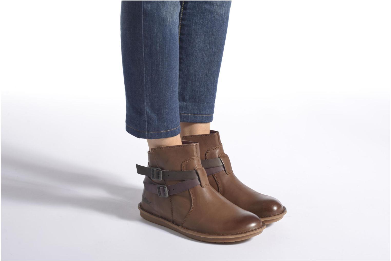 Bottines et boots Kickers WOUASO Marron vue bas / vue portée sac