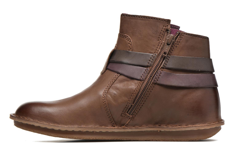Bottines et boots Kickers WOUASO Marron vue face