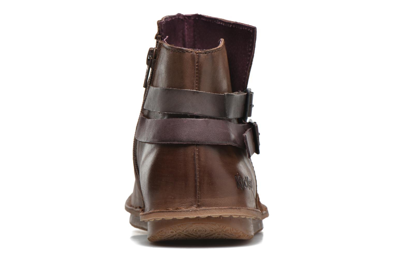 Bottines et boots Kickers WOUASO Marron vue droite