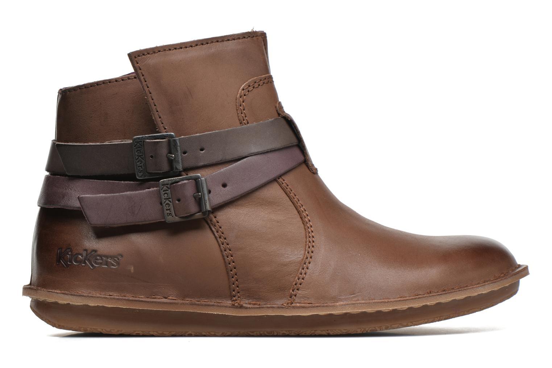Boots Kickers WOUASO Brun bild från baksidan