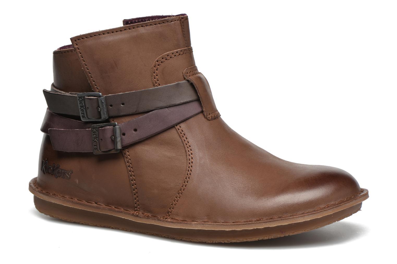 Bottines et boots Kickers WOUASO Marron vue détail/paire