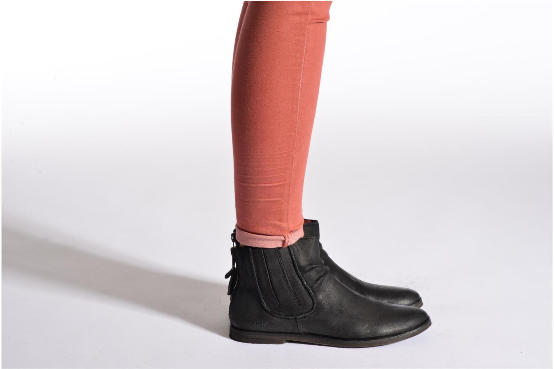 Bottines et boots Kickers REVIVAL Noir vue bas / vue portée sac