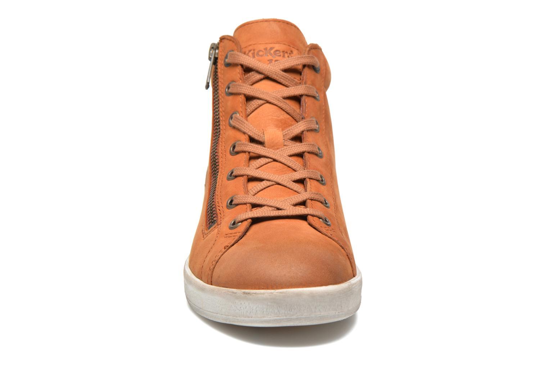 Baskets Kickers Hamo Orange vue portées chaussures
