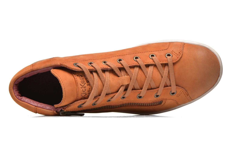 Baskets Kickers Hamo Orange vue gauche