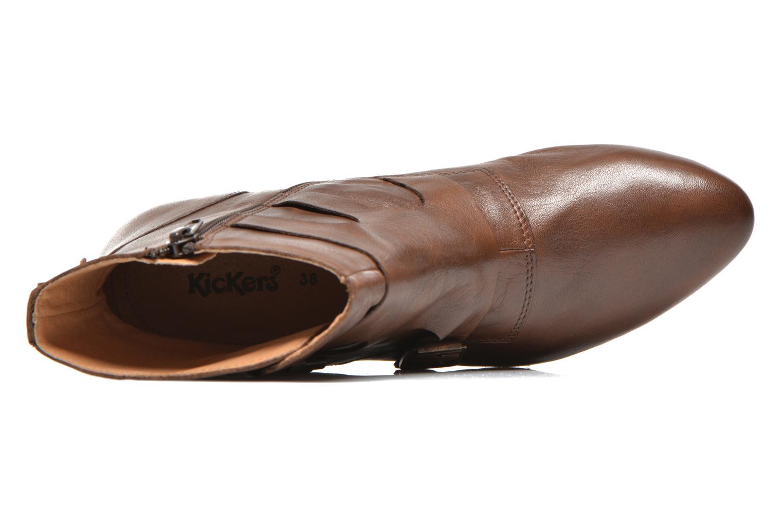 Bottines et boots Kickers Westside Marron vue gauche