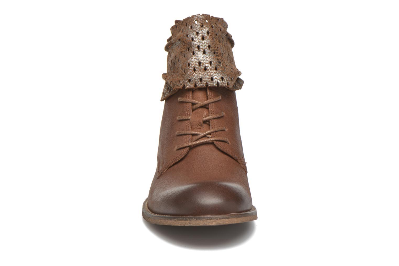Stiefeletten & Boots Kickers Punkyzip braun schuhe getragen