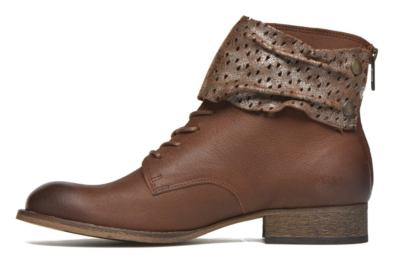 Stiefeletten & Boots Kickers Punkyzip braun ansicht von vorne