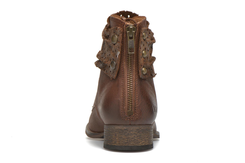 Stiefeletten & Boots Kickers Punkyzip braun ansicht von rechts
