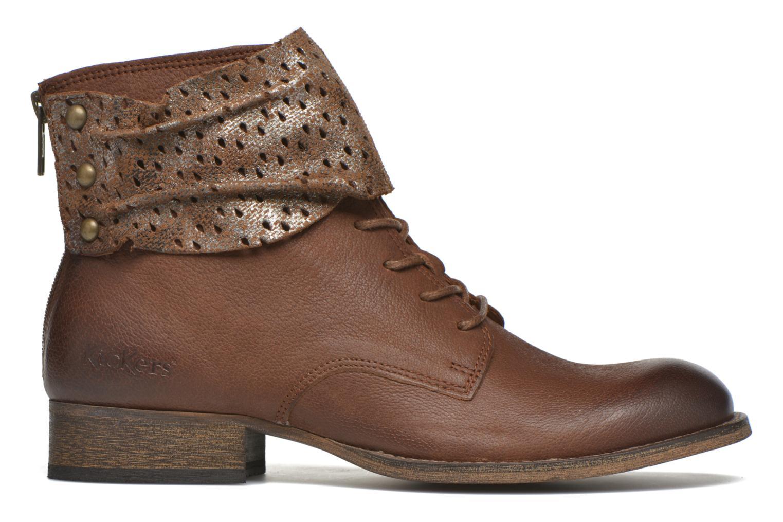 Stiefeletten & Boots Kickers Punkyzip braun ansicht von hinten