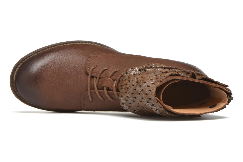 Stiefeletten & Boots Kickers Punkyzip braun ansicht von links