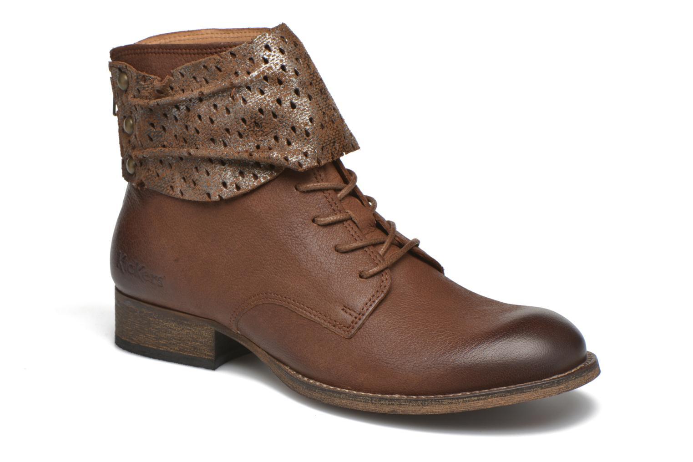 Ankelstøvler Kickers Punkyzip Brun detaljeret billede af skoene