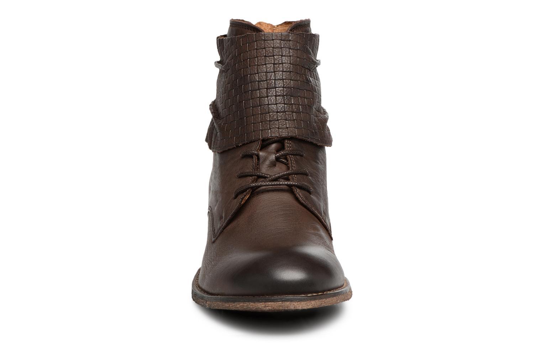 Bottines et boots Kickers Punkyzip Marron vue portées chaussures