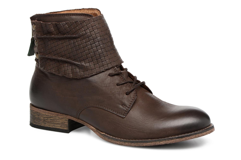 Bottines et boots Kickers Punkyzip Marron vue détail/paire
