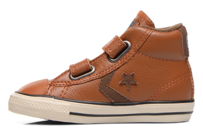 Sneaker Converse Star Player 2V Lea Mid braun ansicht von vorne