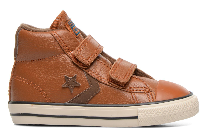 Sneaker Converse Star Player 2V Lea Mid braun ansicht von hinten