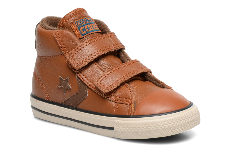 Sneaker Converse Star Player 2V Lea Mid braun detaillierte ansicht/modell